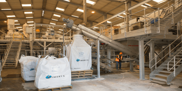 Interior of FiberLean pilot plant in Trebal, UK